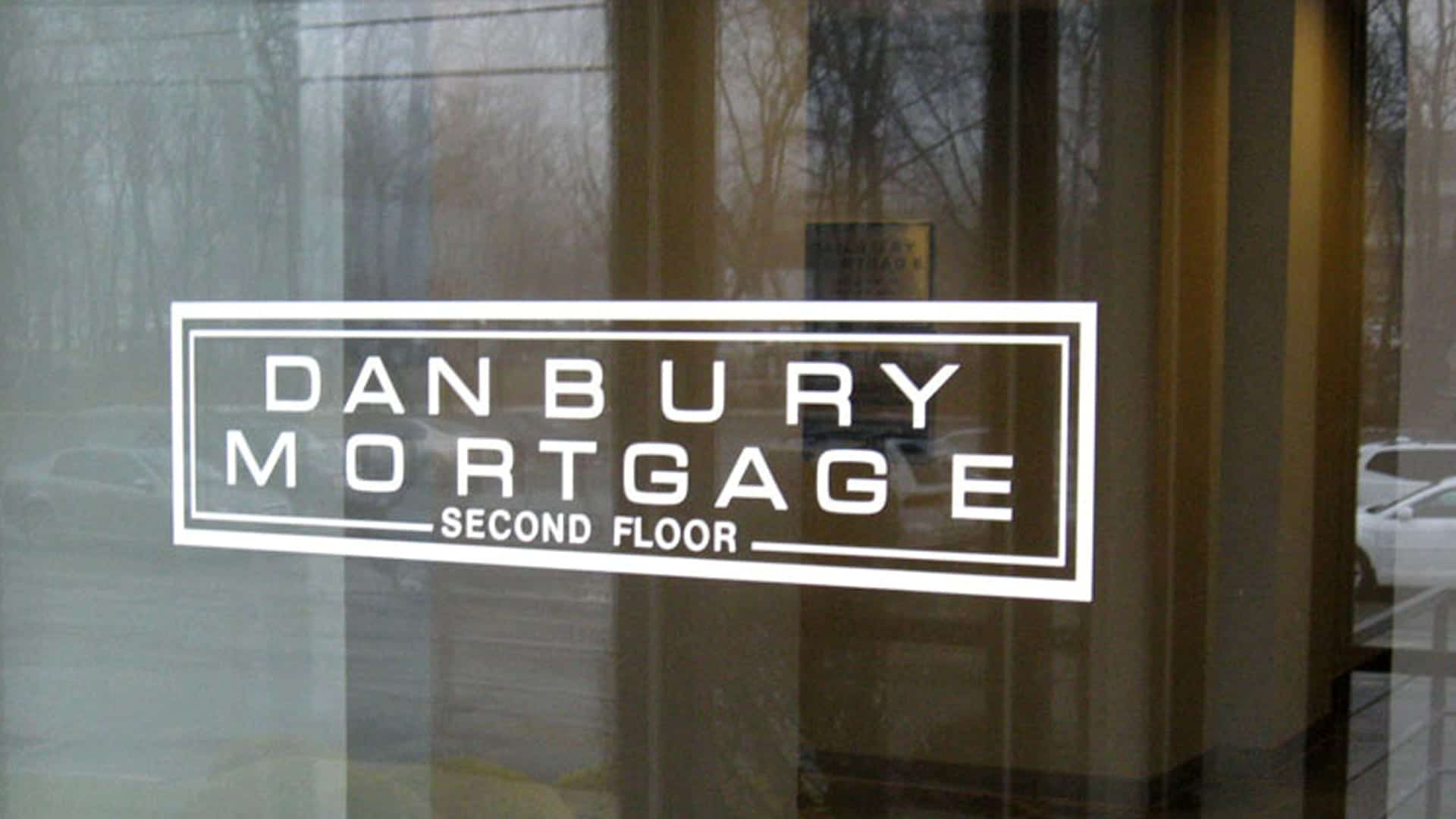 Danbury Mortgage - Door Vinyl - Vinyl Lettering