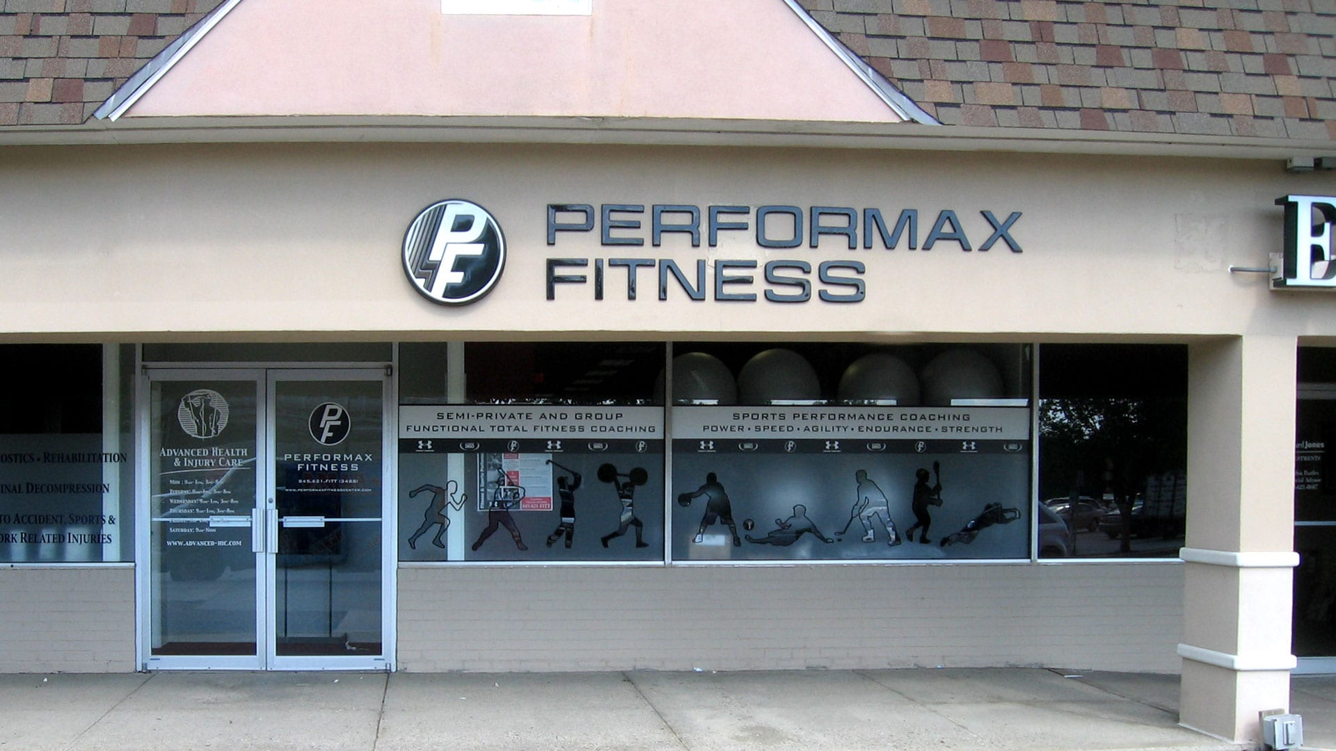Performax Fitness Exterior Wall Sign