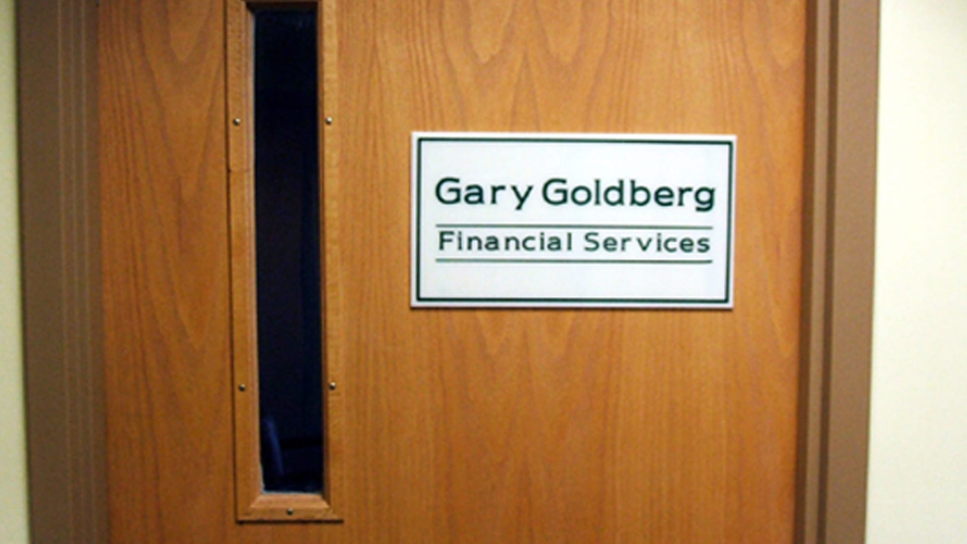 Door Signs - Gary Goldberg Financial Services