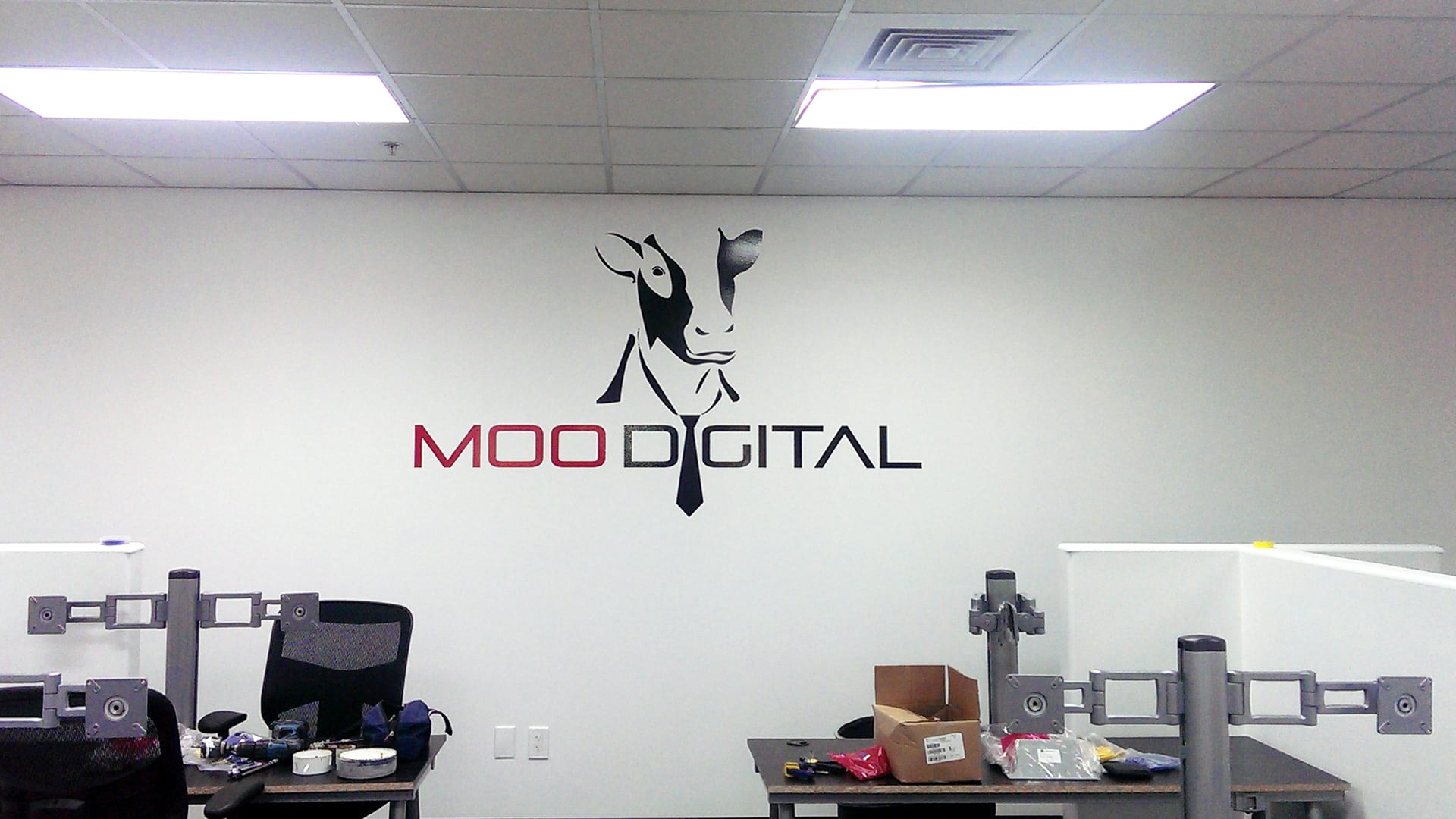 Moo Digital - Vinyl Lettering - Interior wall