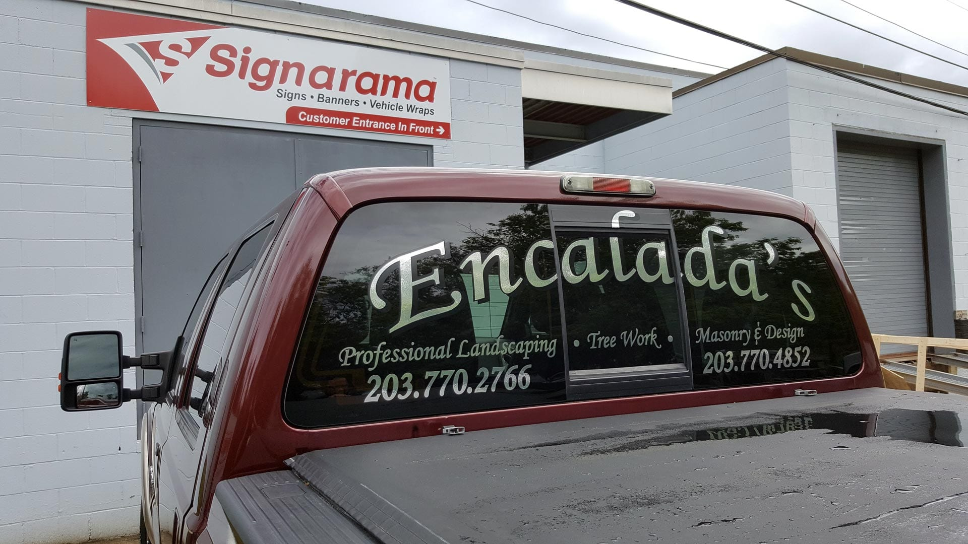 Encalada's - Truck lettering - vehicle wraps