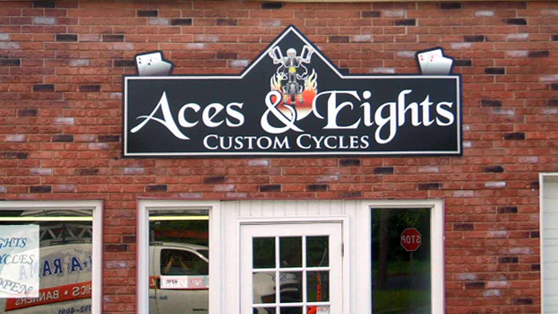 Exterior Wall Sign For Aces & Eights