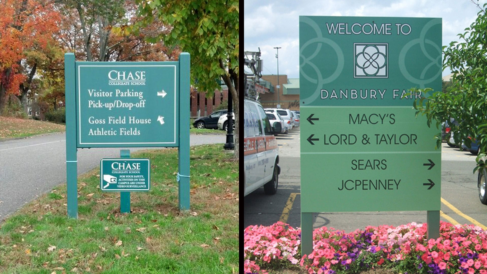 Two Pylon Signs - Exterior signs
