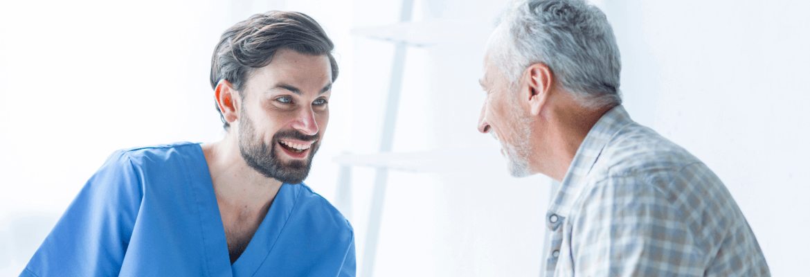 patient and doctor talking